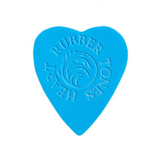 Rubber Tones Heart Blue Silicone 1 Pick